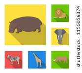 different animals flat icons in ...   Shutterstock . vector #1150056374