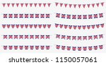 british bunting set with uk... | Shutterstock .eps vector #1150057061