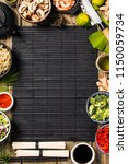 asian cuisine ingredients on... | Shutterstock . vector #1150059734