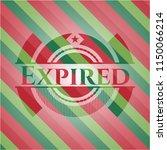 expired christmas badge.   Shutterstock .eps vector #1150066214