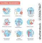 global business concept icons ...   Shutterstock .eps vector #1150067867