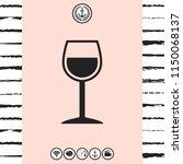 wineglass symbol icon | Shutterstock .eps vector #1150068137