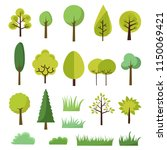 green tree icons   Shutterstock .eps vector #1150069421