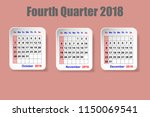 calendar for fourth quarter of... | Shutterstock .eps vector #1150069541