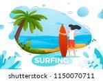 vector illustration   surfing...   Shutterstock .eps vector #1150070711