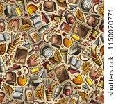 cartoon hand drawn back to... | Shutterstock .eps vector #1150070771