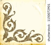 retro baroque decorations... | Shutterstock .eps vector #1150072901