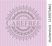 carefree realistic pink emblem | Shutterstock .eps vector #1150076861