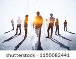 teamwork  meeting and network... | Shutterstock . vector #1150082441