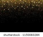 gold glitter particles on dark... | Shutterstock . vector #1150083284