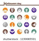 halloween icon set inverse style | Shutterstock .eps vector #1150085531