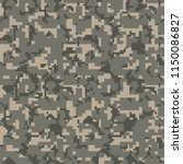 pixel camouflage seamless... | Shutterstock .eps vector #1150086827