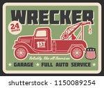 retro truck wrecker vintage... | Shutterstock .eps vector #1150089254
