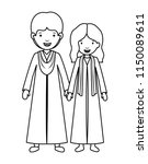 couple graduates avatars... | Shutterstock .eps vector #1150089611