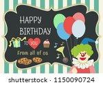 happy birthday vector greeting... | Shutterstock .eps vector #1150090724