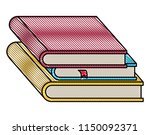 pile text books isolated icon | Shutterstock .eps vector #1150092371