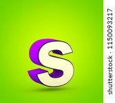 superhero letter s lowercase.... | Shutterstock . vector #1150093217