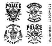police department set of vector ... | Shutterstock .eps vector #1150094921