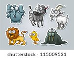 vector illustrated set of... | Shutterstock .eps vector #115009531