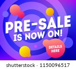 pre sale banner template design....   Shutterstock .eps vector #1150096517