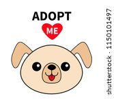 pet adoption. dog round face... | Shutterstock .eps vector #1150101497