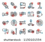 set of 20 icons such as power ... | Shutterstock .eps vector #1150101554
