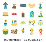 set of 20 icons such as wreath  ...
