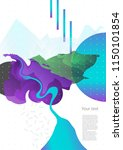 template with an abstract image ... | Shutterstock .eps vector #1150101854