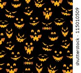 halloween background   teeth... | Shutterstock .eps vector #115010509