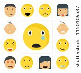 set of 13 simple editable icons ... | Shutterstock .eps vector #1150106537