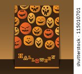 halloween flyer or cover design ... | Shutterstock .eps vector #115010701