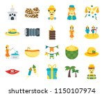set of 20 icons such as man ...