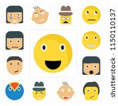 set of 13 simple editable icons ... | Shutterstock .eps vector #1150110137