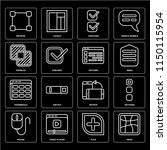 set of 16 icons such as mesh ...