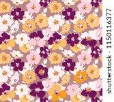 seamless flowers texture.... | Shutterstock .eps vector #1150116377