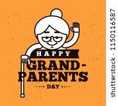 happy grandparents day.... | Shutterstock .eps vector #1150116587