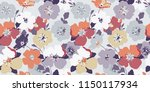 seamless flowers texture.... | Shutterstock .eps vector #1150117934