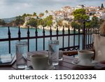 skiathos town  greece   the... | Shutterstock . vector #1150120334