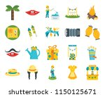 set of 20 icons such as stand ...