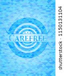 carefree sky blue emblem with... | Shutterstock .eps vector #1150131104