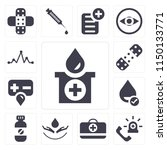 set of 13 simple editable icons ... | Shutterstock .eps vector #1150133771