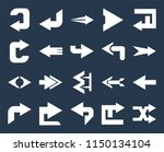 set of 20 simple editable icons ... | Shutterstock .eps vector #1150134104