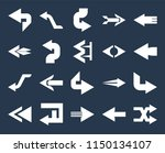set of 20 simple editable icons ... | Shutterstock .eps vector #1150134107