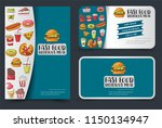 fast food flyer and banner or... | Shutterstock .eps vector #1150134947