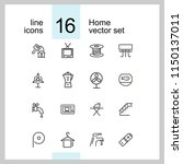 home icons. set of  line icons. ... | Shutterstock .eps vector #1150137011