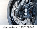 close up of front radial mount... | Shutterstock . vector #1150138547