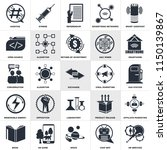 set of 25 icons such as hr...