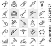 set of 25 icons such as spanner ...