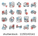set of 20 icons such as... | Shutterstock .eps vector #1150143161