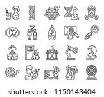 set of 20 icons such as samples ... | Shutterstock .eps vector #1150143404